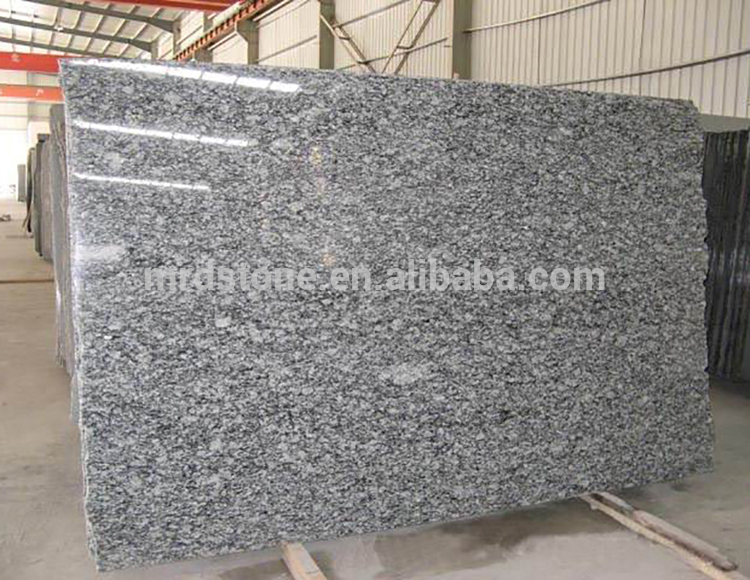 Chinese Polished Spray Sea Wave White Granite Slab
