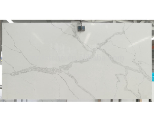 Factory Direct CE Approved Calacatta White Veins Grey Quartz Stone