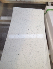 Artificial sparkling white quartz stone floor tile