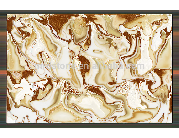 Hot Sale CE Approved Polished Man Made Faux Honey Onyx Slab Price