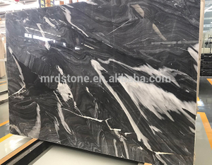 Wholesale Price Natural Stone White Vein Black Marble Price