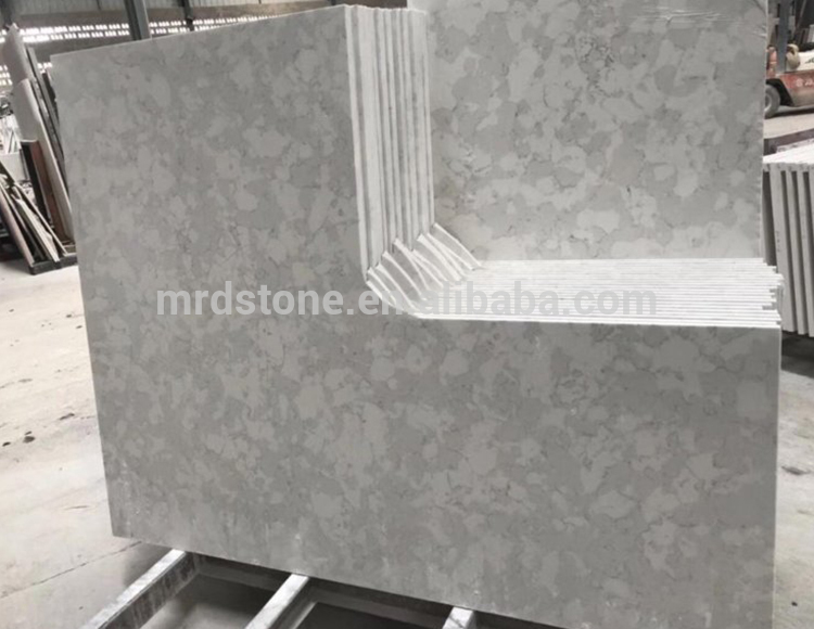 Good Price Mirror Fleck White Quartz Countertop With Grey Veins