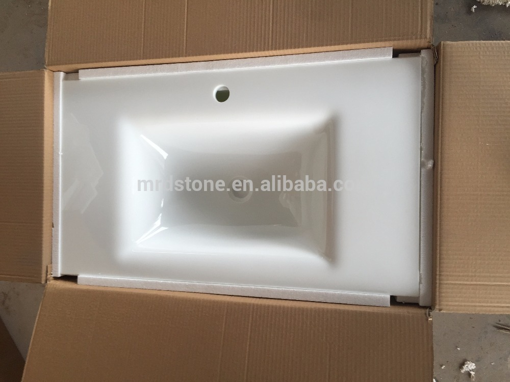 High Quality Artificial white nano crystallized glass for Bathroom Countertop