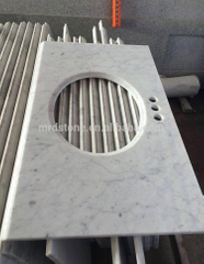 Factory Price Bathrooms White Marble Carrara Vanity Tops