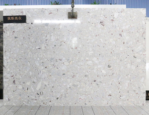 High Quality ISO9001 Approved Crystal Light Grey Engineered Marble Slab