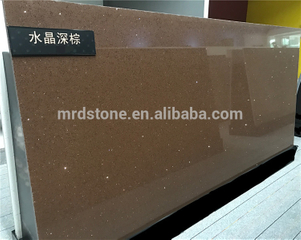Commercial kitchen countertop polished crystal quartz stones