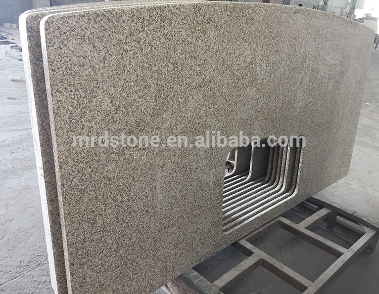 Manufacturers Polishing Surface Natural Stone Chinese Rusty Yellow G682 Granite Countertop
