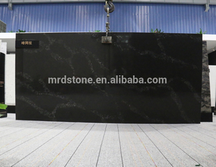 Modern kitchen countertop Textured calacatta quartz slabs importers
