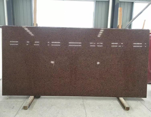 Engineered Brick Red Quartz Stone Slab Production Line