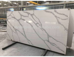 Wholesale Polished Artificial Calacatta White Quartz Stone