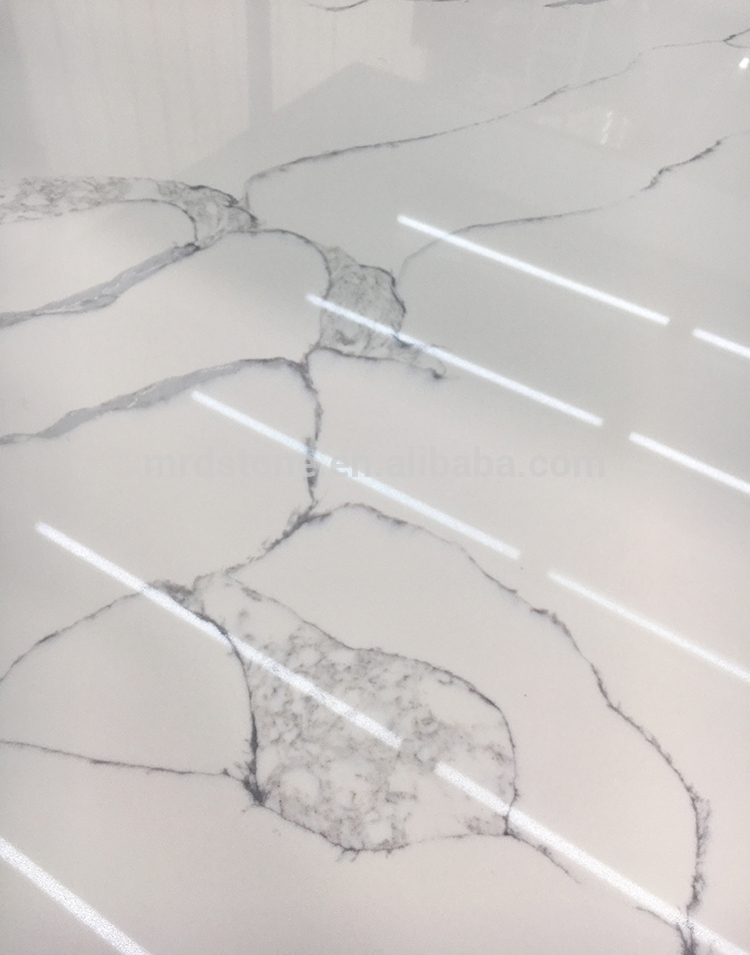 Chinese Supplier Artificial White Calacatta Quartz Stone Price