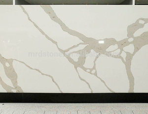 Favorable Price Artificial Stone White Calacatta Quartz Slab