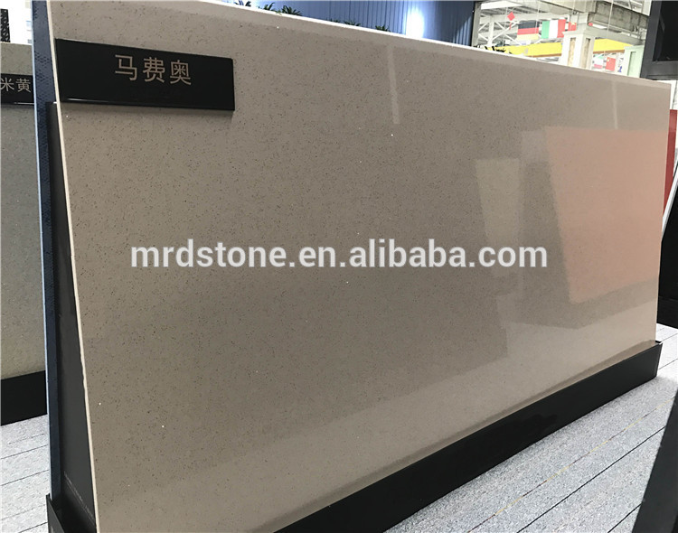 High density large size sparkling quartz engineered stone for countertop
