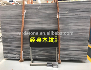 Chinese Price Polished Nature Grey Wood Grain Marble Slab