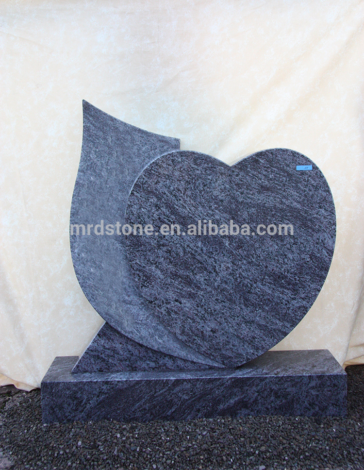 Grave Tombstone Germany Style Granite Small Heart Shaped Headstones