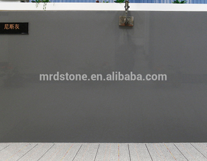 Manufacturer Artificial Pure Grey Quartz For Countertop