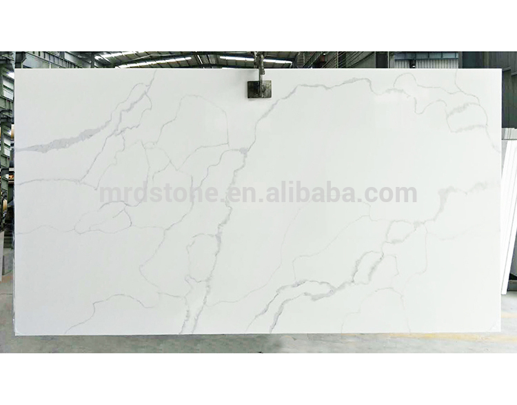 Factory Supplier SGS Certified White Artificial Stone Calacatta Quartz Slabs Price