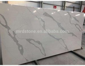 Factory Directly Calacatta White Veins Grey Quartz Stone