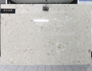Low Price Crystal Light Beige Artificial Marble Slab