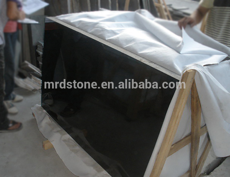 Chinese Polished Cut To Size Mongalia Absolut Black Granite Slab