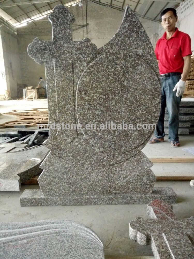 Cheap Romania style G664 cross blank granite tombstone
