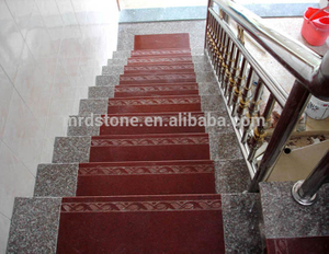 Natural Color Block Granite Interior Stone Steps Stair Step
