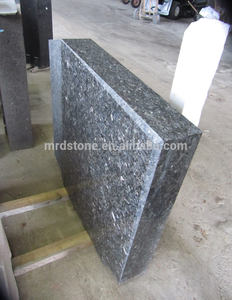 Customized Size Upright Blue Pearl Granite Headstone
