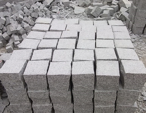 Natural granite pavement paving stone blocks for garden
