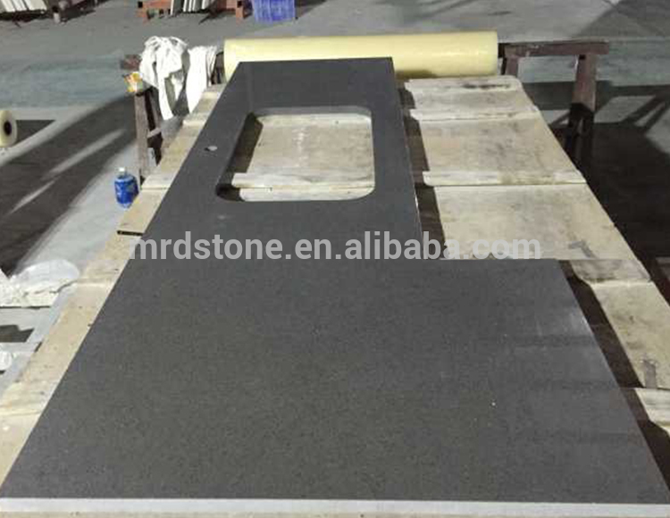 Hot Sale Prefab Artifical Starlight Grey Sparkle Quartz Countertop