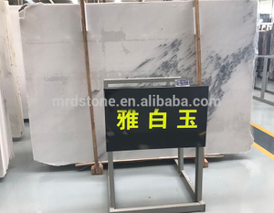 Polished Surface Finishing Blue Sky Types White Marble