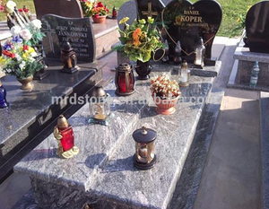 Wholesale Heart Shaped Designs Multicolor Green Granite Poland Original Tombstone