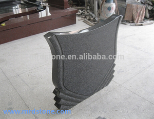 Cheap Price Chinese Polished Granite Black Gravestone