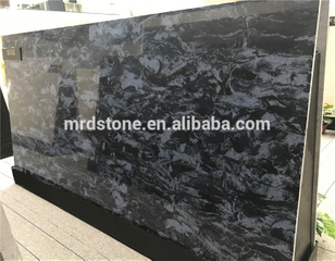 Hot sale largest size engineered big flower series stone thin quartz slabs
