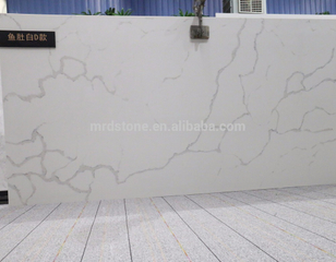 Hot Sales High Quality Artificial Calacatta White D Quartz Engineered Stone Slab