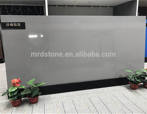 Largest Size Artificial Pure Grey Quartz Slab For Countertop