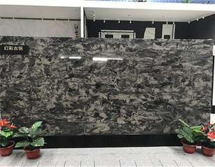 Wholesale CE Certificate Composite Artificial Black Quartz Slab