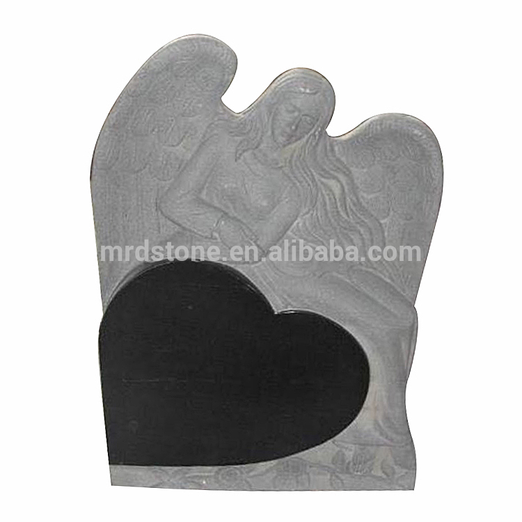 Carved and polished grave stone, Natural gravestones stone, Angel shape granite Tomb stone