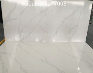 Good Price Man Made Artificial White Calacatta Faux Quartz Stone