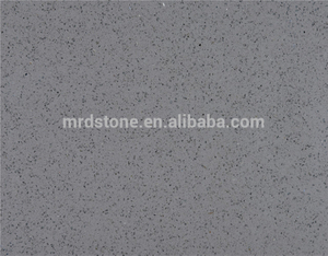 Engineered artificial crystal grey raw quartz stone slab