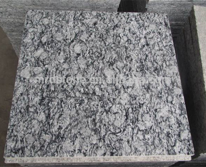 Custom size exterior floor spray white natural stone different types of granite tile