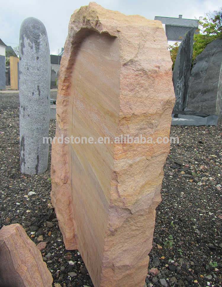 Customized Germany Style Yellow Granite Blank Headstones For Graves