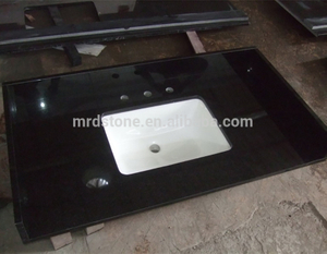 Wholesale High Quality Black Vanity Top Precut Granite Kitchen Countertop