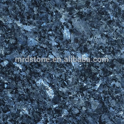 Natural Stone Polished Prefab Blue Pearl Granite Price Kitchen Countertop