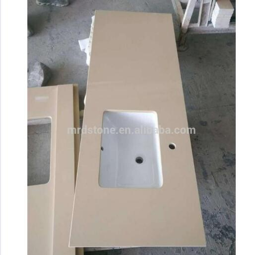 Cheap Prefab Commercial Yellow Quartz Countertop Wholesale