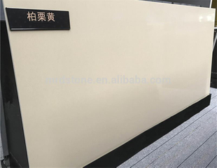 Factory Prices SGS Certified Man-Made Stone Pure Light Yellow Quartz Slab