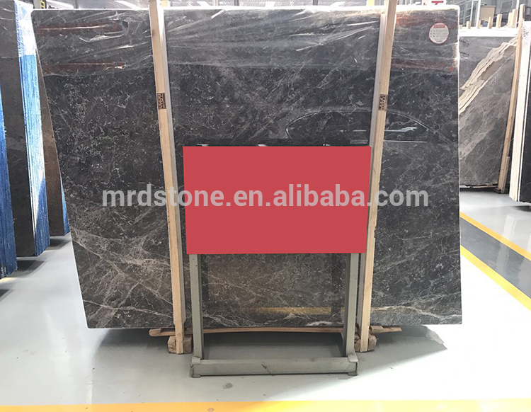 Wholesale Polished Natural Stone Dark Grey Marble Slab