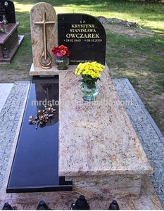 New Design Modern Shivakashi Gold Black Pearl Granite Poland Headstones Wholesale