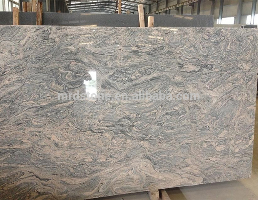 Best price China Juparana natural stone polished granite slab for sale