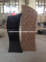 Black Red Granite Monument Stone for Memorial