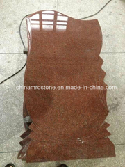 New Designs India Red Granite Upright Cemetery Headstone